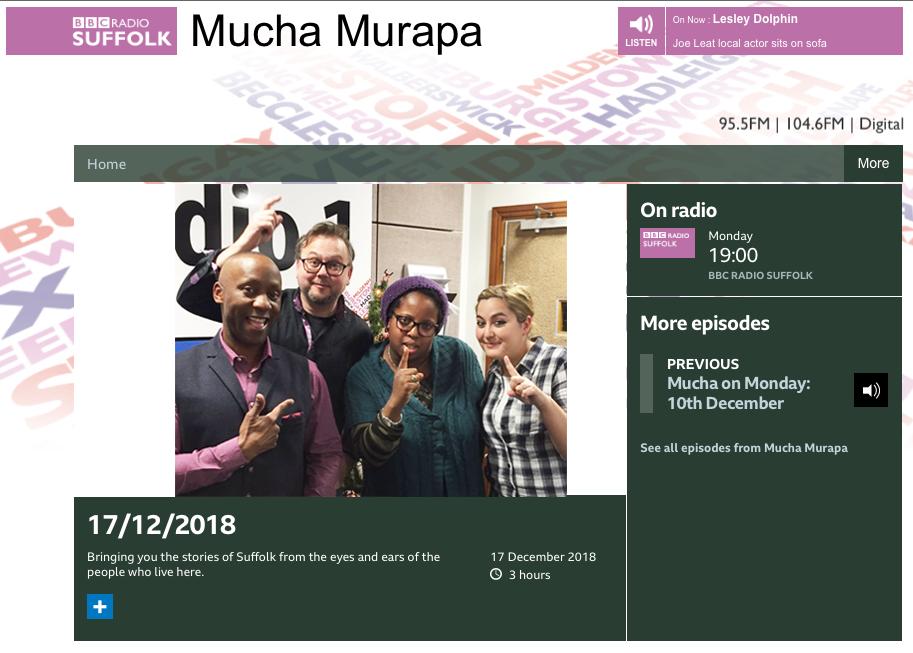 BBC Radio suffolk 17 De 2018
