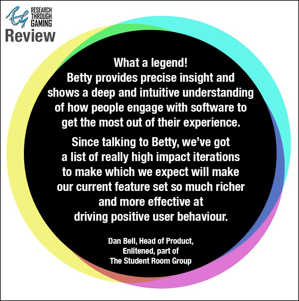 Web Dan Bell Testimonial The Student Room for Betty RTG