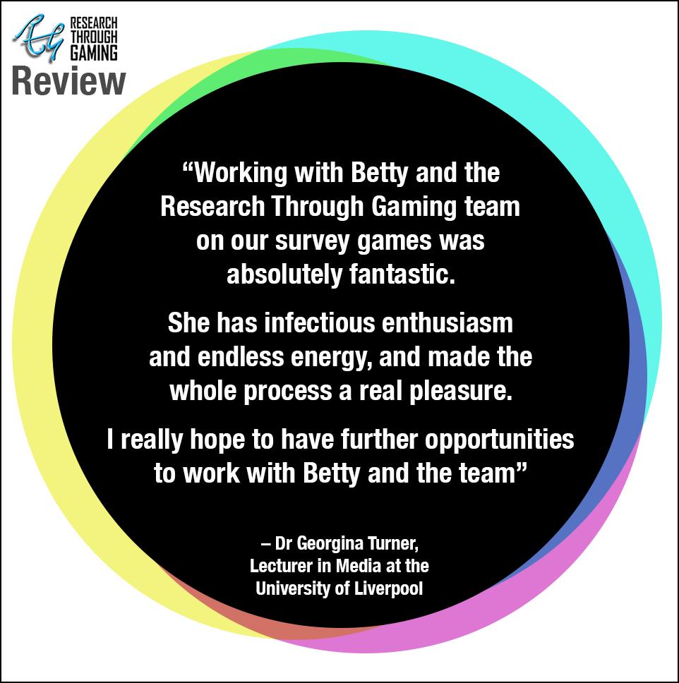 Web Dr Georgina Turner Testimonial IMPRINTS Futures for Betty RTG