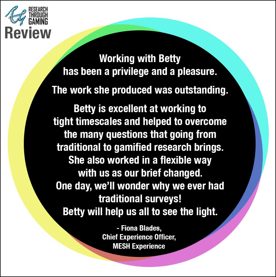 Web Fiona Blades Testimonial MESH Experience for Betty RTG