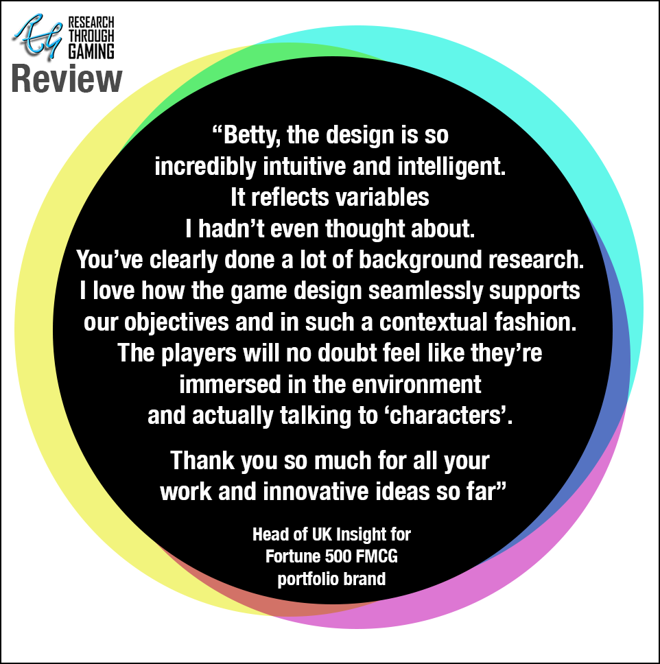 Web Head of UK insight Testimonial Fortune500 FMCG client for Betty RTG