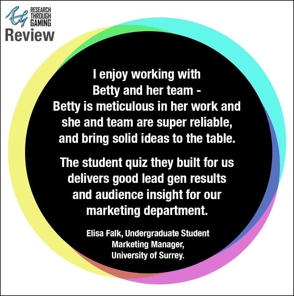 Web V8 Elisa Testimonial Uni of Surrey for Betty RTG