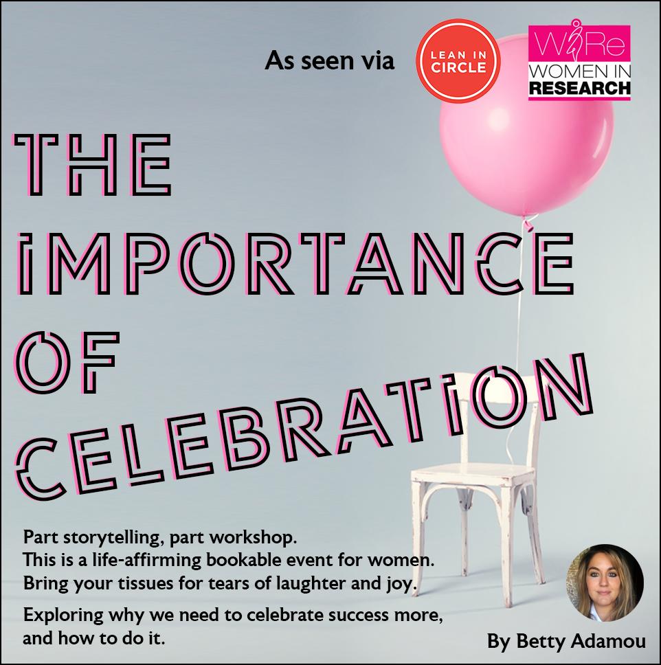As seen via Article Promo Importance of Celebration