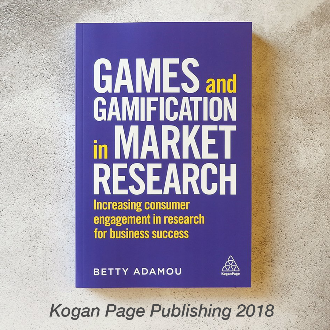 Games and Gamification in Market Research photograph of book by Betty Adamou