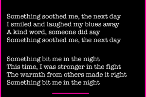Something Bit Me poem by Betty Adamou Part 3 of 3